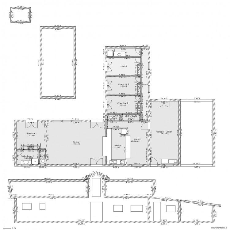 Plan De Masse Piscine Plan 16 Pi Ces 162 M2 Dessin Par