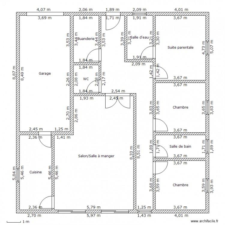 Maison ecologique plan 11 pi ces 180 m2 dessin par for Plan maison ecologique
