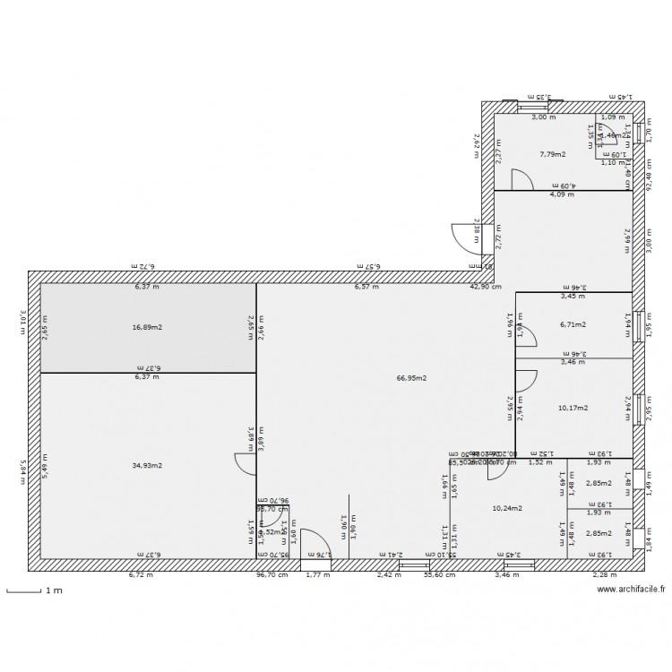Maison volvic plan 11 pi ces 162 m2 dessin par elodam63 for 162 plan