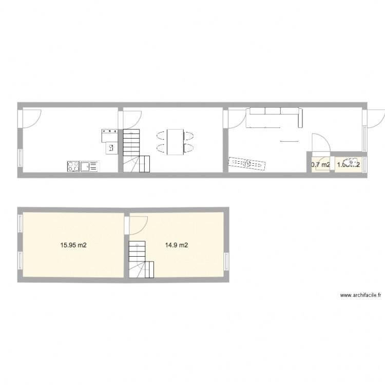 maison fleurus 1 plan 4 pi ces 33 m2 dessin par desmet. Black Bedroom Furniture Sets. Home Design Ideas