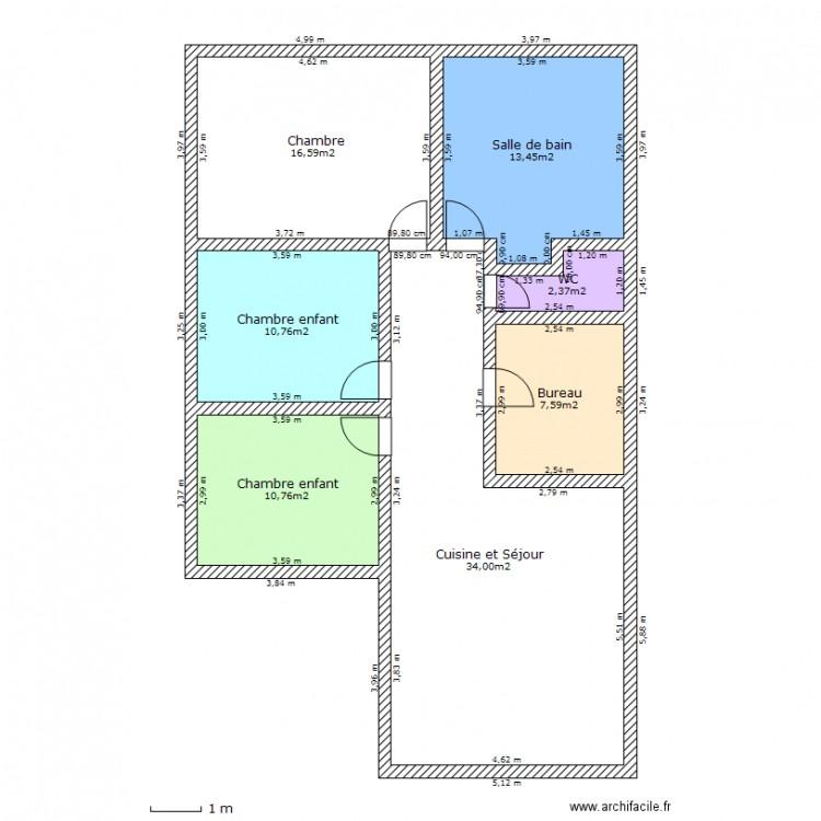Maison de mes r ves plan 7 pi ces 96 m2 dessin par for Mes plans de maison