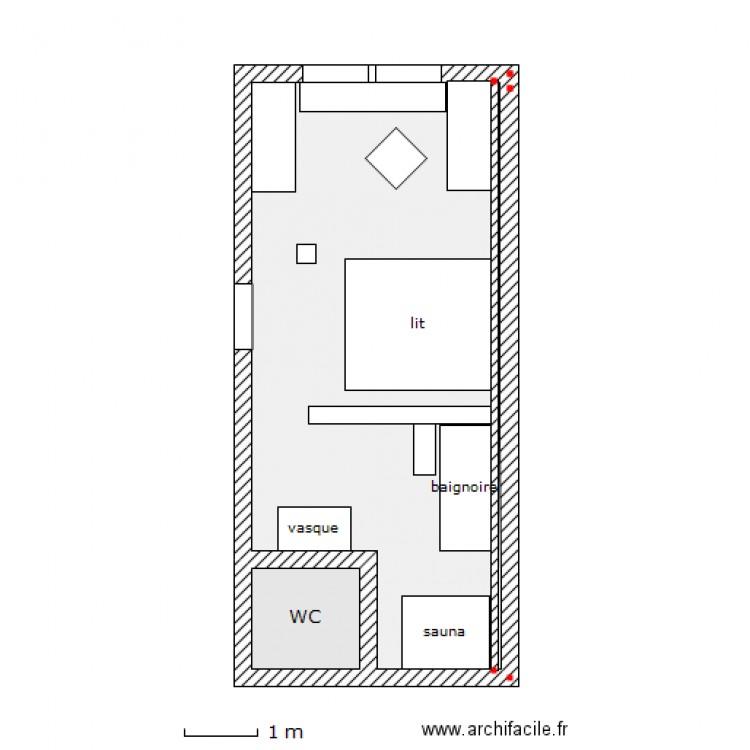 Chambre parentale 3 plan 2 pi ces 27 m2 dessin par orage666 for Taille chambre parentale
