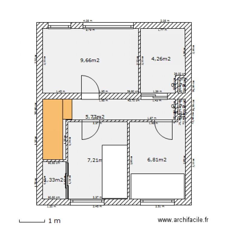 Maison loos 1er etage avec sdb et prolong couloir plan 8 pi ces 35 m2 dessi - Largeur couloir maison ...