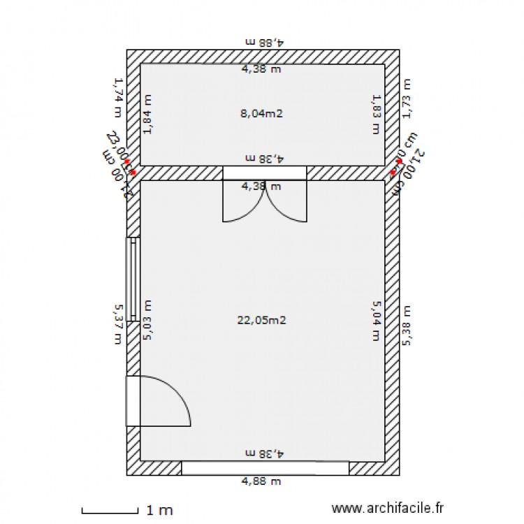 garage 16 x 25 plan 2 pi ces 30 m2 dessin par lebeaudan. Black Bedroom Furniture Sets. Home Design Ideas