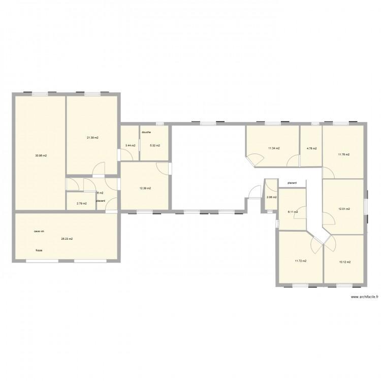 Agrandissement plan maison final 1 plan 16 pi ces 177 m2 for Agrandissement maison plan