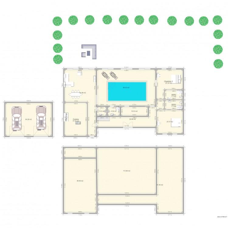 Maison normande plan 15 pi ces 646 m2 dessin par nikko75 - Plan maison normande ...