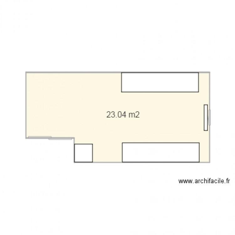 Bureau 2 plan 1 pi ce 23 m2 dessin par maximevdp for Bureau petite taille