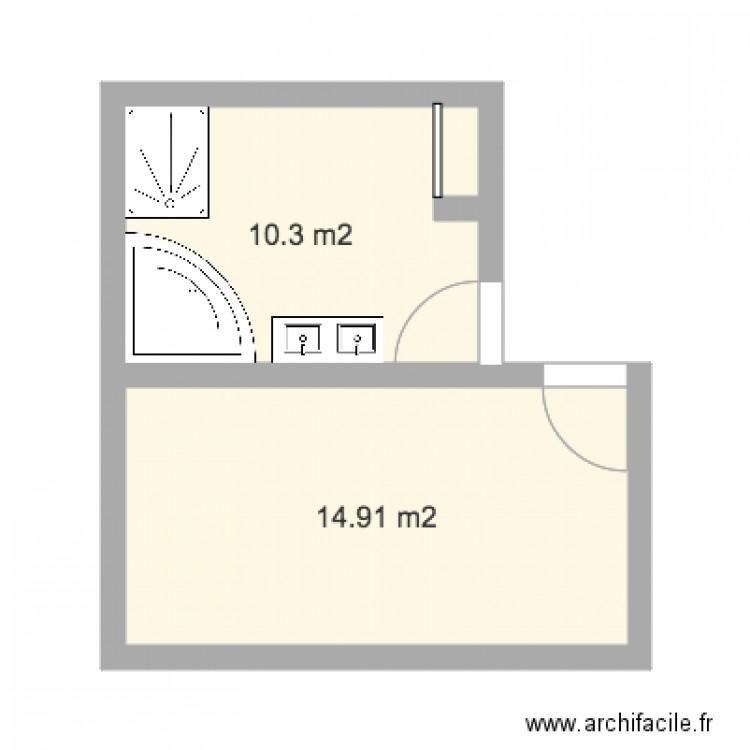 Salindres plan 2 pi ces 25 m2 dessin par raphael07 for Piscine salindres