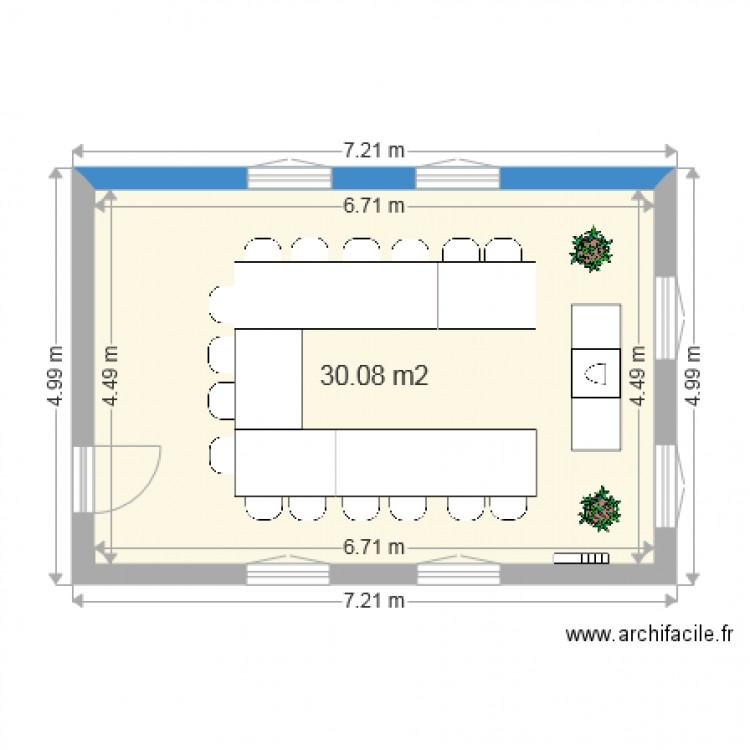 Bureau cup cake plan 1 pi ce 30 m2 dessin par lchuiton for Nombre de m2 par personne bureau