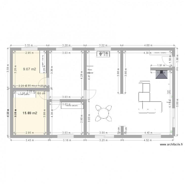 Maison Plan 3 Pi Ces 36 M2 Dessin Par Thomas080779