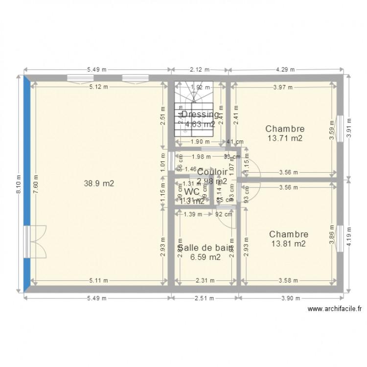 plan d appart 3 plan 7 pi ces 82 m2 dessin par jretouing. Black Bedroom Furniture Sets. Home Design Ideas