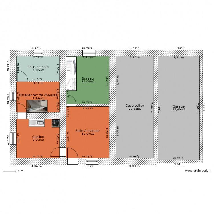 maison naz originale rez de chauss plan 7 pi ces 97 m2 dessin par skilian. Black Bedroom Furniture Sets. Home Design Ideas