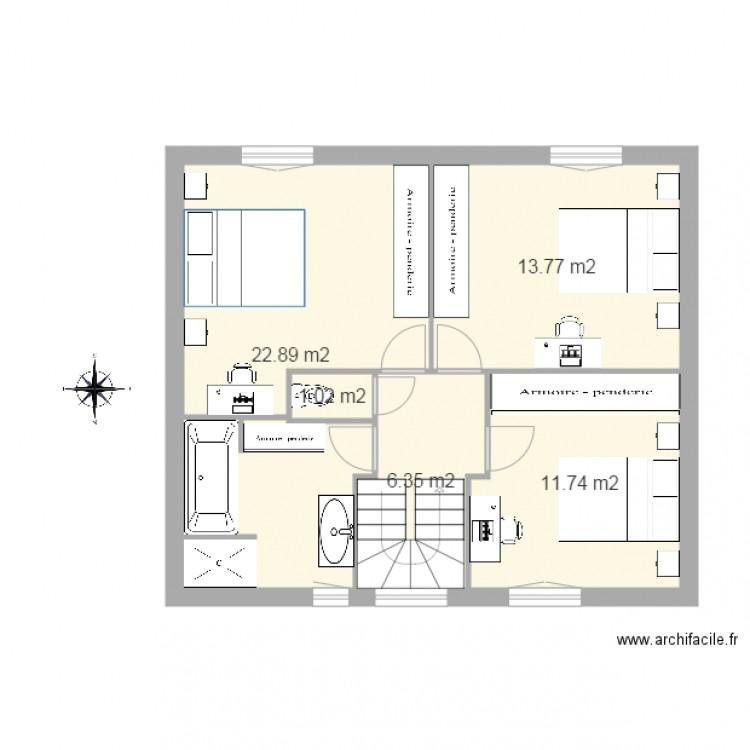 les philippines etage plan 5 pi ces 56 m2 dessin par gajoce