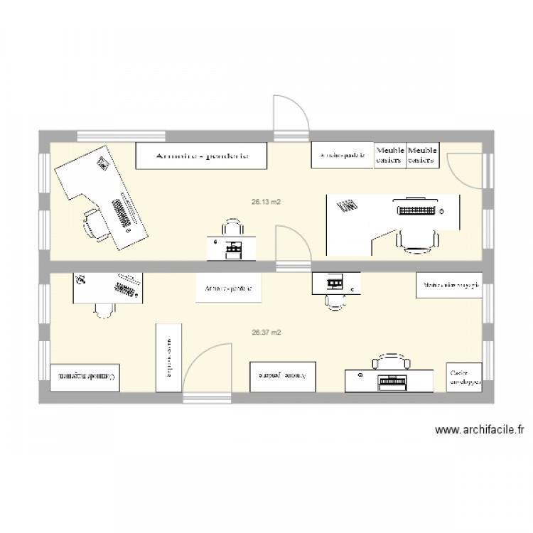 Bureau lp flora tristan proposition am nagement plan 3 for Nombre de m2 par personne bureau