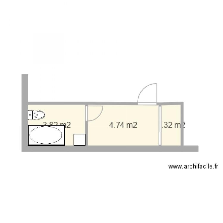Salle de bain 2 plan 3 pi ces 10 m2 dessin par mbddl for Salle de bain 2 m2