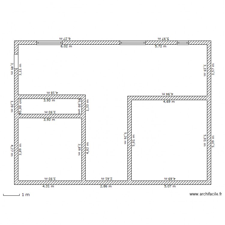 plan facade 12m plan dessin par yanouch86. Black Bedroom Furniture Sets. Home Design Ideas