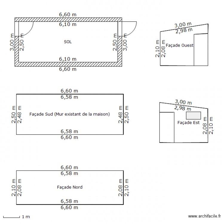 abri de jardin sol et facades plan 8 pi ces 59 m2 dessin par kali77. Black Bedroom Furniture Sets. Home Design Ideas