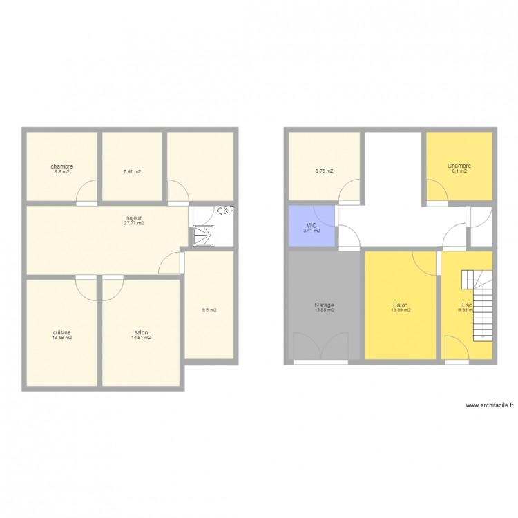 Plan plan 12 pi ces 140 m2 dessin par mohamedtawski - Consommation electrique moyenne maison 140 m2 ...
