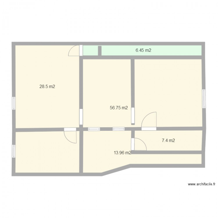 Maison plan 5 pi ces 113 m2 dessin par laurent2010 for Plan de maison 5 pieces