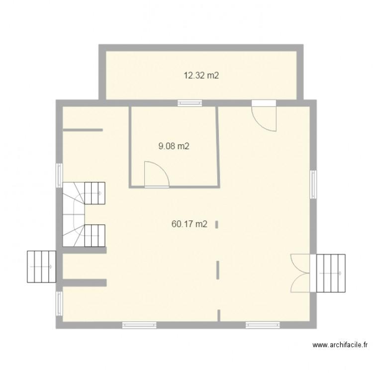 Rez de chauss plan 3 pi ces 82 m2 dessin par greg22410 - Chausse et vous ...