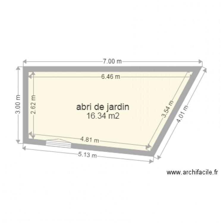 Terrasse sur abri de jardin 2 plan 1 pi ce 16 m2 dessin par syl21 - Abri jardin grande taille ...