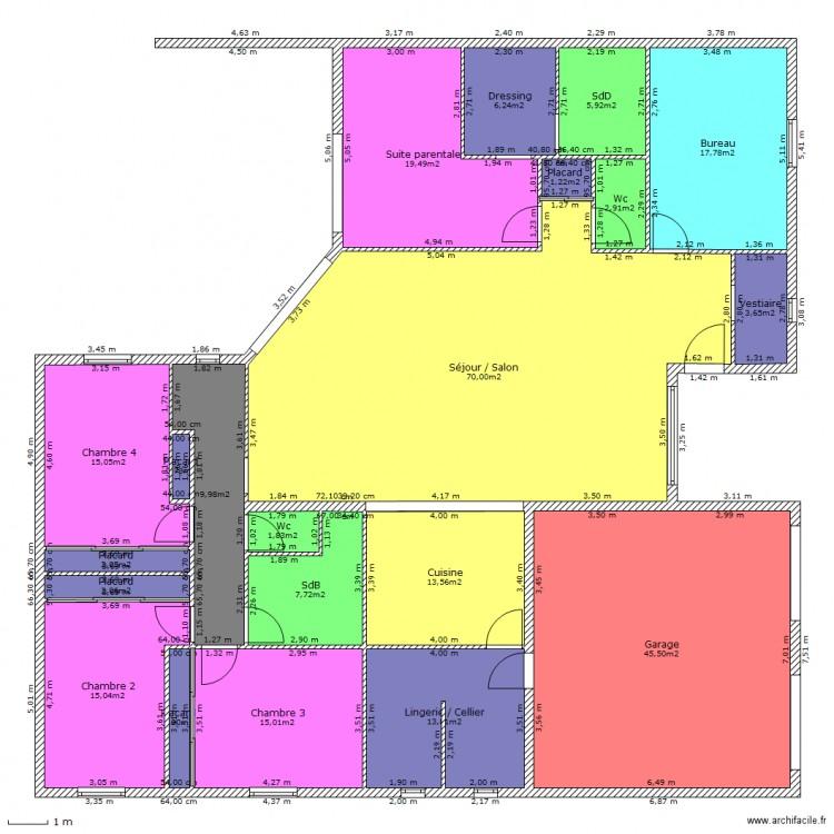 Maison id ale plan 21 pi ces 271 m2 dessin par philo - Maison ideale ...