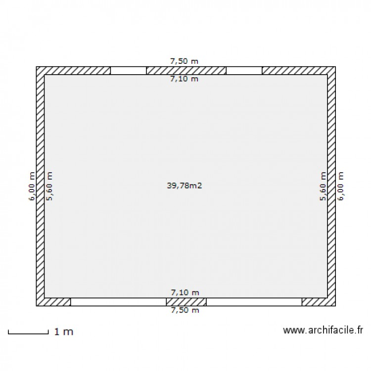 Garage 2 places plan 1 pi ce 40 m2 dessin par jelou for Garage 2 places