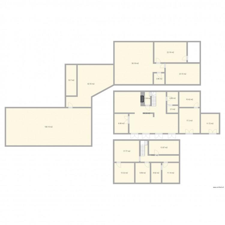 Maison plan 22 pi ces 475 m2 dessin par reben73 for Taille moyenne maison