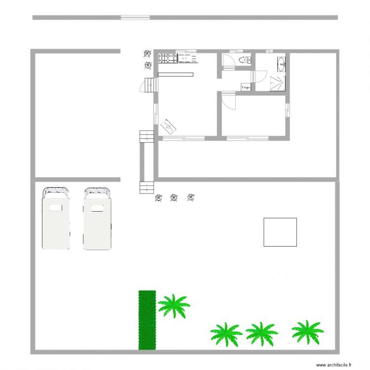 Plan maison plan 2 pi ces 23 m2 dessin par heinuibodin - Plan de maison 2 pieces ...