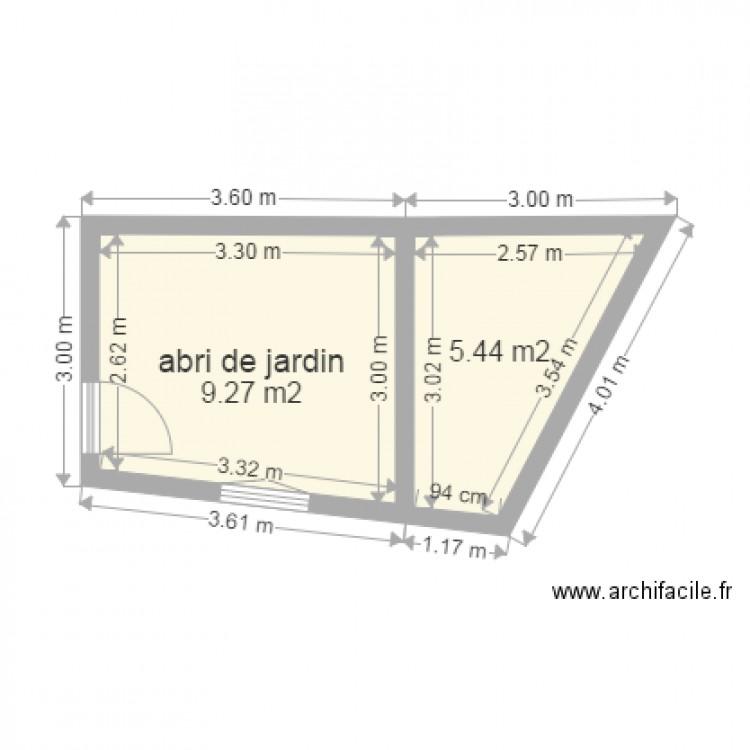 Terrasse sur abri de jardin 3 plan 2 pi ces 15 m2 dessin par syl21 - Abri jardin grande taille ...