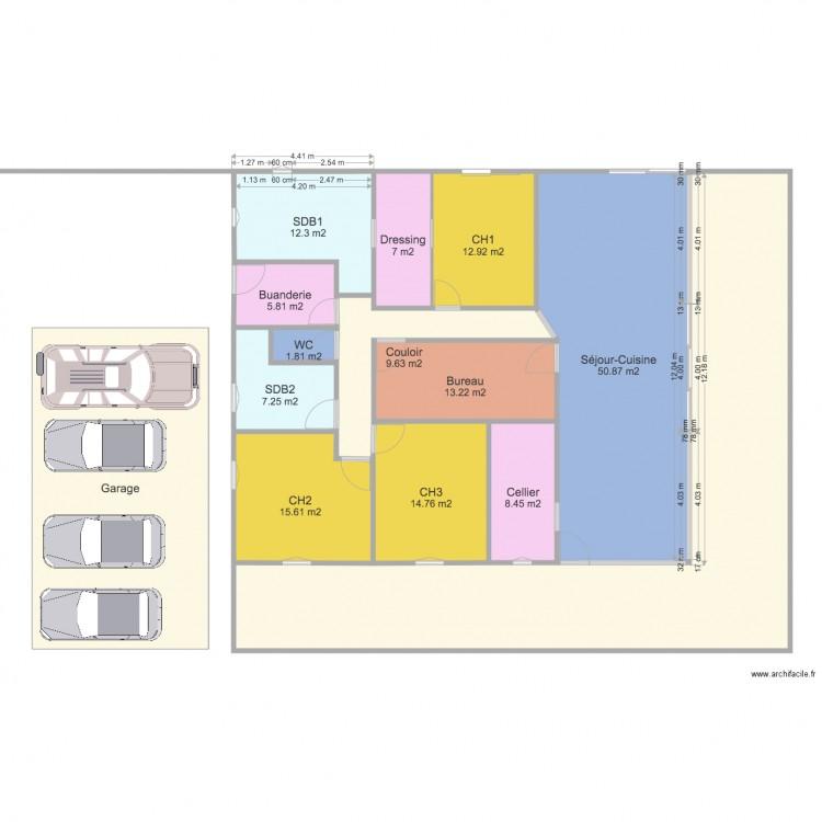Plan villa f5 plan 14 pi ces 295 m2 dessin par nadisandra for Plan de maison f5