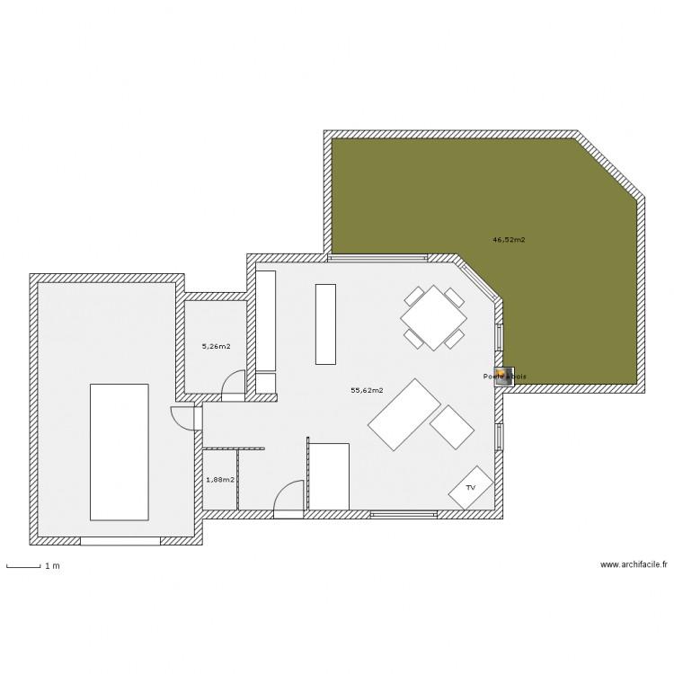 Maison plus petite 3 plan 5 pi ces 139 m2 dessin par for Plan de maison 5 pieces
