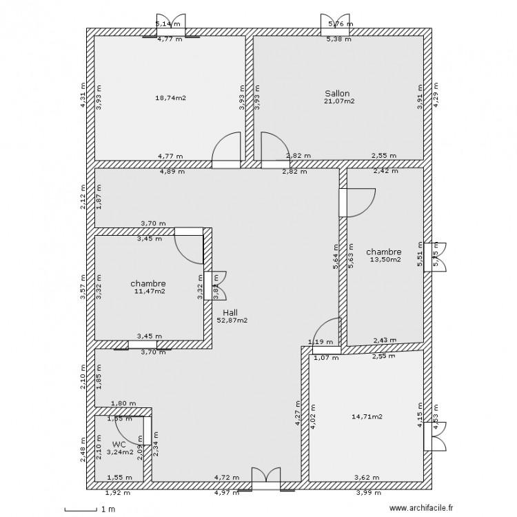 maison de campagne zili plan 7 pi ces 136 m2 dessin par bidameda. Black Bedroom Furniture Sets. Home Design Ideas