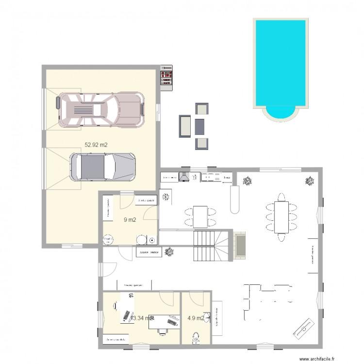 Maison de mes r ves plan 4 pi ces 80 m2 dessin par for Mes plans de maison