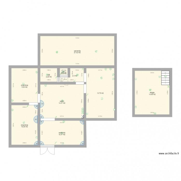 teddy 2 plan 10 pi ces 99 m2 dessin par mmmservice. Black Bedroom Furniture Sets. Home Design Ideas