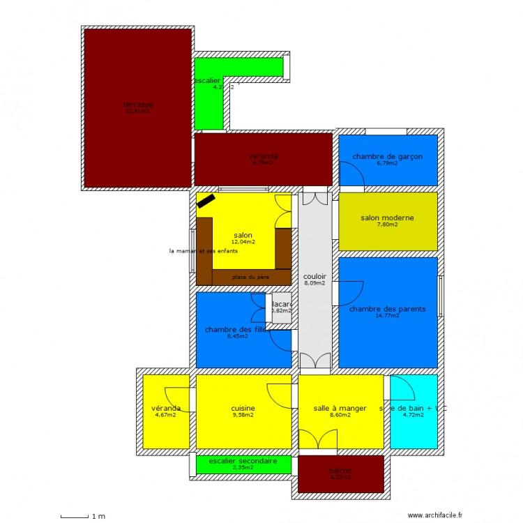 Ma maison plan 16 pi ces 130 m2 dessin par mayarchi91 for Dessine ma maison gratuitement