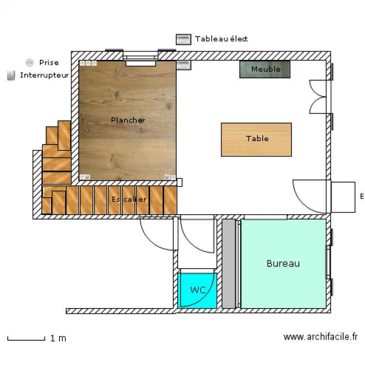 Install plancher technique plan 4 pi ces 9 m2 dessin for Plancher technique prix m2
