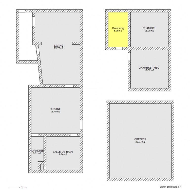Plan maison complet 2 plan 8 pi ces 128 m2 dessin par for Plan maison complet