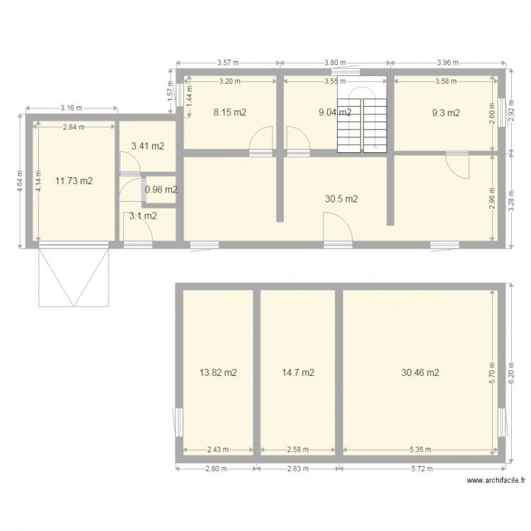 78 bois darcy plan 11 pi ces 135 m2 dessin par bacoglain78. Black Bedroom Furniture Sets. Home Design Ideas