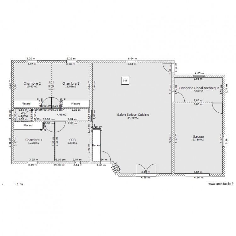 Variante maison des plazons garage droite plan 9 for Plan maison garage a droite