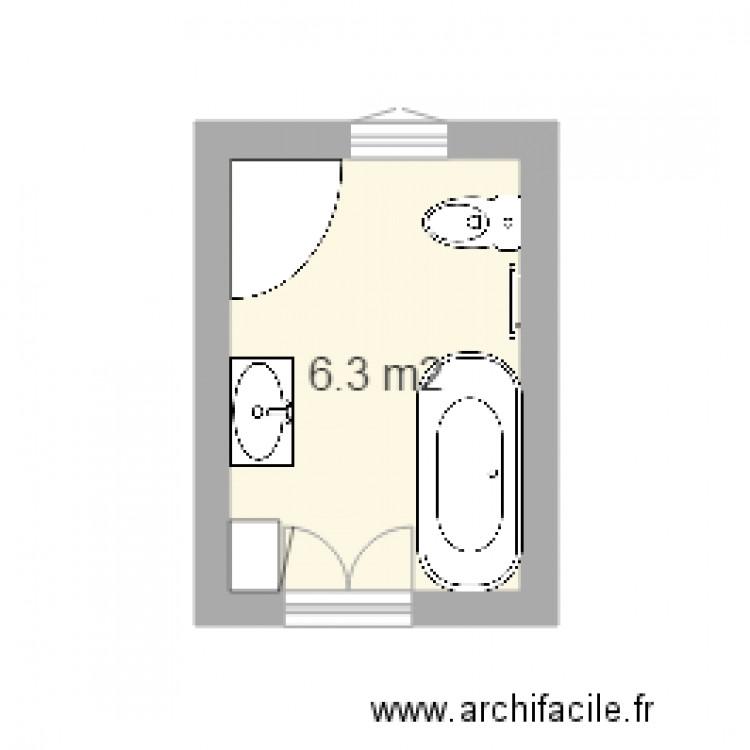 plan salle de bain plan 1 pi ce 6 m2 dessin par sanjuro59. Black Bedroom Furniture Sets. Home Design Ideas
