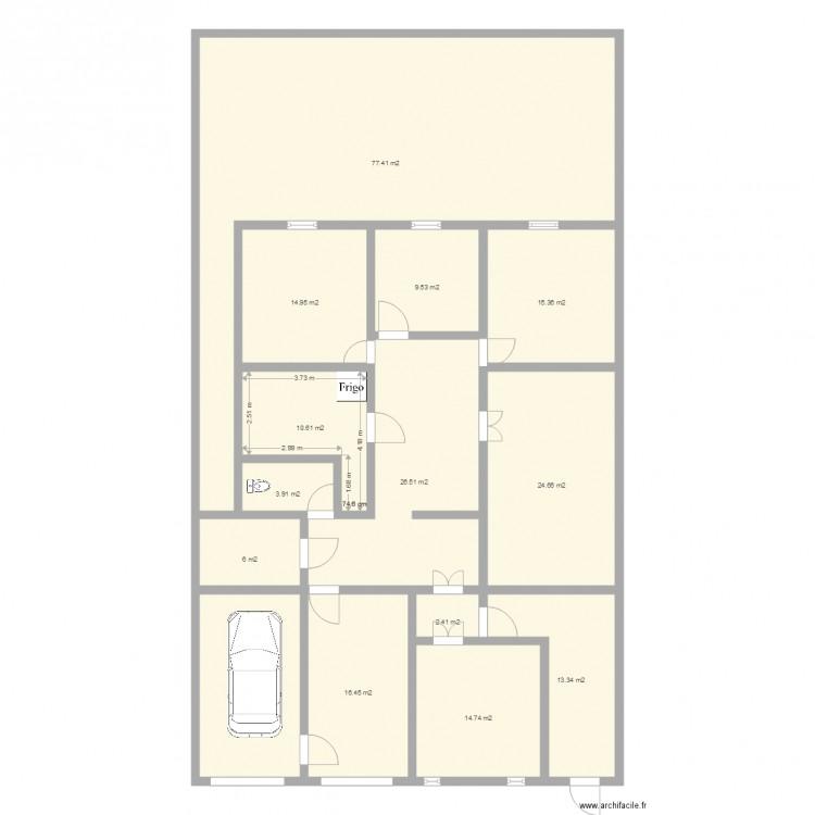 Maison plan 14 pi ces 252 m2 dessin par nobl for Taille moyenne maison