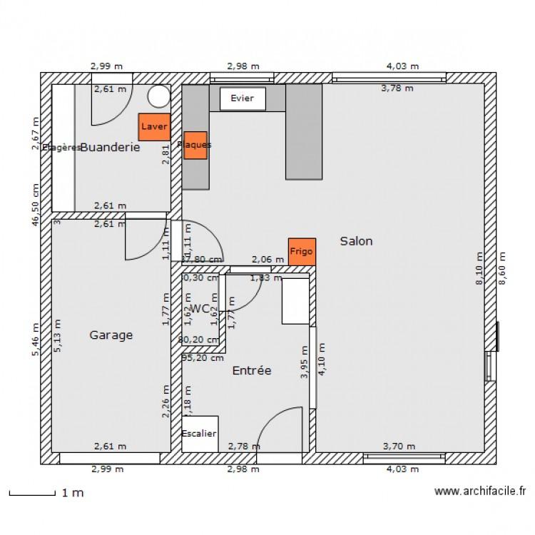 Maison 100m2 plan 5 pi ces 73 m2 dessin par takamine51 - Plan de maison 100m2 ...