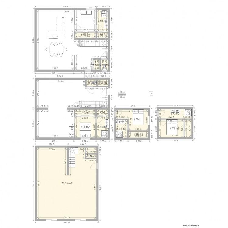 Mca nous plan 17 pi ces 128 m2 dessin par tomdu74 for Plan maison mca