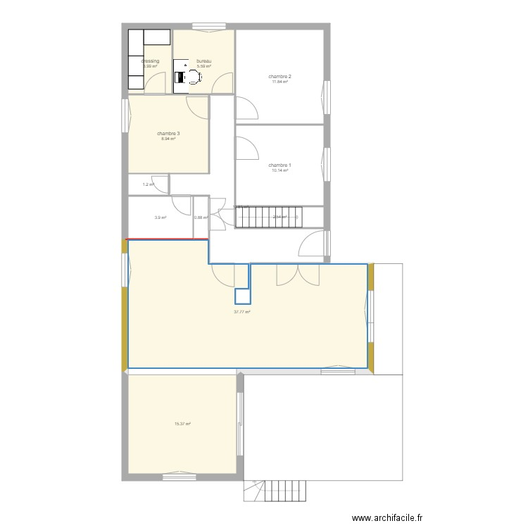 Maison dressing avec meuble ikea 1m60 plan 11 pi ces 98 for Ikea plan dressing