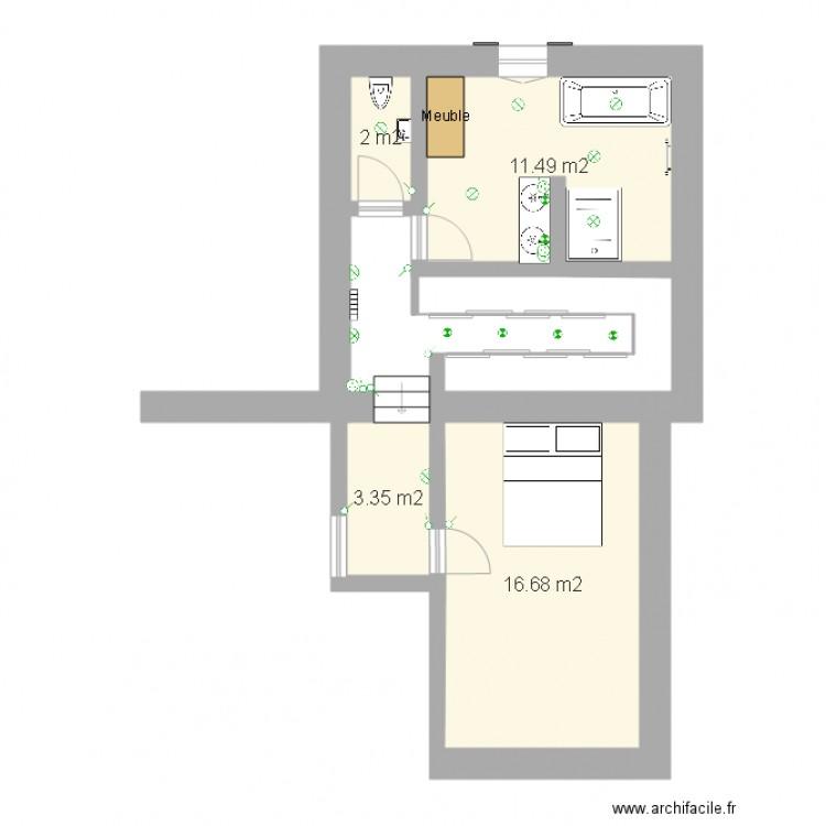 Salle de bain v2 plan 4 pi ces 34 m2 dessin par champi06 for Salle de bain 4 m2