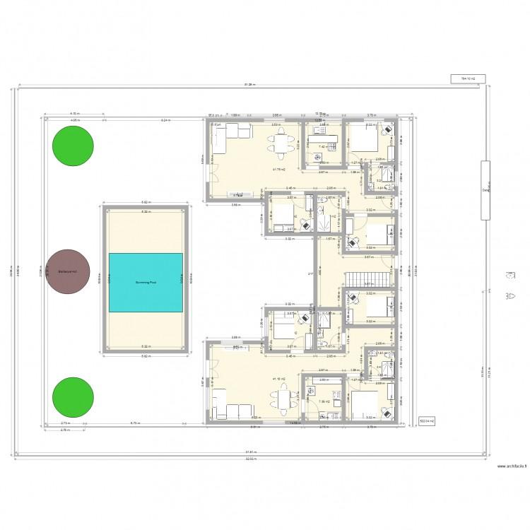 Plan 7 plan 17 pi ces 501 m2 dessin par bashir for 501 plan