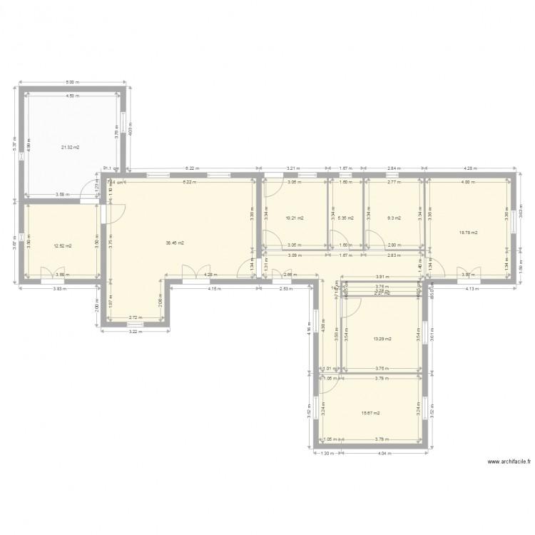 Plan plan 11 pi ces 162 m2 dessin par thomashoue for 162 plan