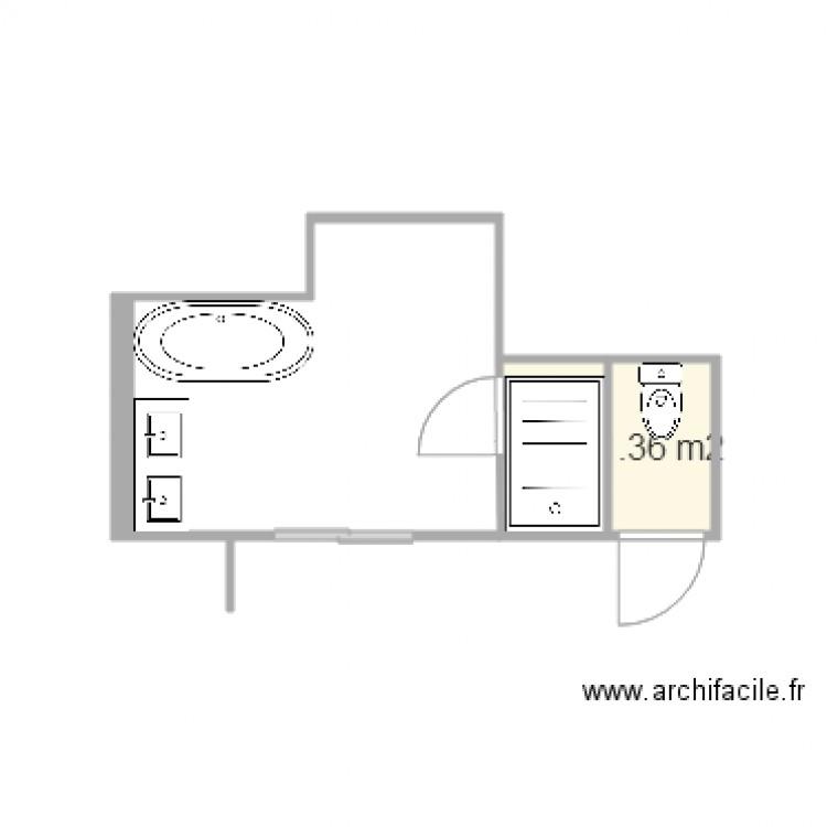 Salle De Bain Plan 2 Pi Ces 3 M2 Dessin Par Fredo337