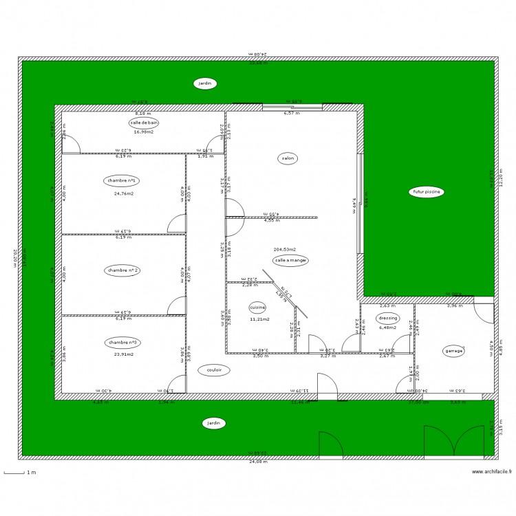 Maison de mes r ves plan 9 pi ces 372 m2 dessin par for Mes plans de maison